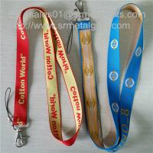 Buy cheap Custom woven lanyard factory direct promotional jacquard logo woven lanyard straps, from wholesalers