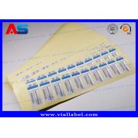 Buy Waterproof 2 Dram Vial Labels Steroid Bottle Sticker For Testosterone Injections at wholesale prices