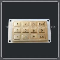 Quality 3x4 Layout Waterproof Numeric Keypad 12 Keys Type For Industrial Equipment for sale