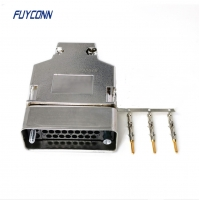Quality 1 - 34 Pin Male Crimping V.35 Router Connector With Shield Shell 180 degree plastic cover for sale
