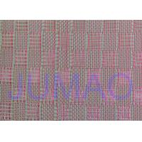 Buy Pink Color Metal Glass Laminated Wire Mesh Fabric For Decoration Design at wholesale prices