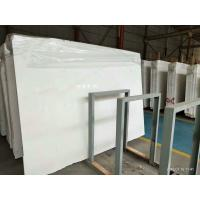 Quality White Polished Marble Floor Tiles No Radiation CE Certification for sale
