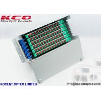Buy cheap FC SC LC Patch Panel Fiber Optic Terminal Box Steel 72 Core Distribution Unit from wholesalers