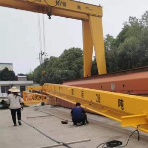 Quality 5 Ton 10 Ton 20 Ton Semi - Portal Single Beam Gantry Crane With Electric Hoist for sale