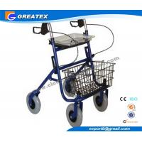 Quality Economy Durable Steel Folding Rollator Walker with Four Wheel For Handicapped for sale