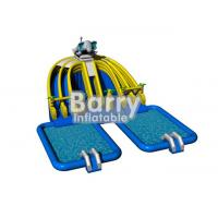 China professional animal inflatable mobile water park , outdoor amusement park rides with 2 swimming pools on sale