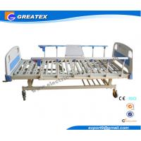 Quality 2 Cranks Manual Hospital Bed 2 Functions 2100*900*500 Mm With ABS Dining Board for sale