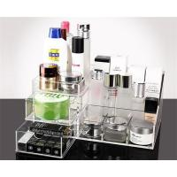 Quality Clear Acrylic Make Up Box Organiser Cosmetic Display Storage Jewellery Case for sale