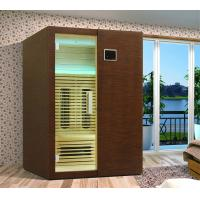 Quality Solid Wood Infrared Sauna Cabin with Ceramic Heater for Family for sale