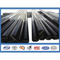 Quality Black Tar Painted Hot Dip Galvanized Steel Pole Coating Octagonal Pole for sale