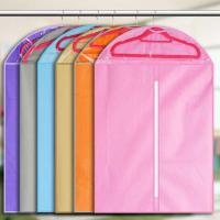 Quality Custom Print Hanging Garment Bag Breathable Non Woven For Suit 60 * 90cm Size for sale
