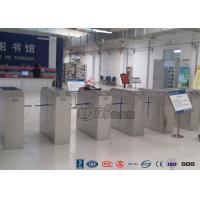 2 Ways Outdoor Flap Barrier Gate Barcode System Controlled Access Turnstile