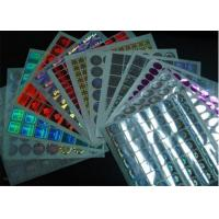 Quality Permanent Glossy Waterproof Holographic Security Stickers With Multicolor for sale