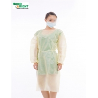 Quality Elastic Knitted Wrist Disposable Hospital Isolation Gown for sale