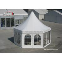 Quality Mini Luxury Pagoda High Peak Outdoor Tent with PVC window Sidwalls for Party for sale