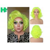 Buy cheap Graceful Green Curly Famale Colonial Costume Wig 12 Inch HT Fiber Material from wholesalers