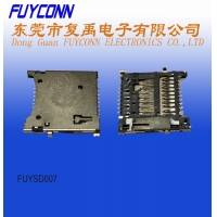 Quality 250VDC 0.5A Insulation 4.0 H1.67 SD Card Push Connector for sale