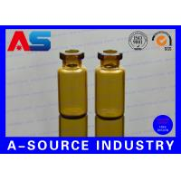 Quality 10ml Amber Miniature Glass Vials Medical Glass Vial And Stoppers for sale