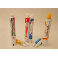 Quality Cream Ointment Gel Aluminum Squeeze Tubes With Full Printing , Aluminum Pharma Tube for sale