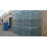 Quality Forklift Operation Collapsible Wire Containers Stacked Height Under 4 Meter for sale