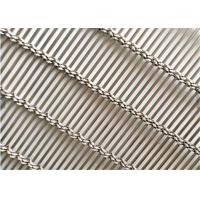 China Stainless Steel Decorative Wire Mesh , Decorative Metal Mesh Cladding As Partition on sale