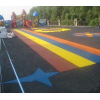 Buy cheap Pour In / Wet Pour Epdm Rubber Flooring , Colorful Rubber Granules Flooring Playground Cover from wholesalers