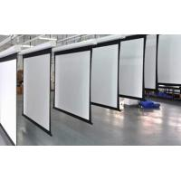 Quality White Motorized Silver Projection Screen With Remote Control For Metting Room for sale
