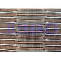 Buy Copper And Silver Color Metal Glass Laminated Glass Mesh Fabric at wholesale prices