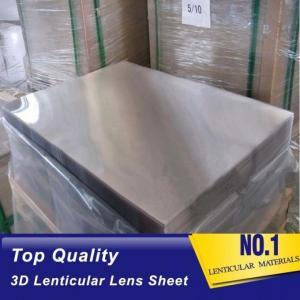 Quality Plastic Lenticular PS material lenticular board 40LPI, 3.95mm, 120x240cm lenticular sheet for injekt print with best 3D for sale