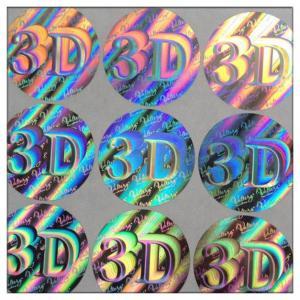 China Custom die-cut hologram printer labels 3D security label,Anti-fake 3D hologram label,security custom hologram sticker on sale