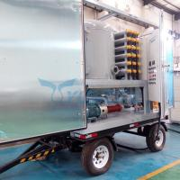 Quality Trolley Type Mobile Double Stage Vacuum Transformer Oil Dehydration Plant for sale
