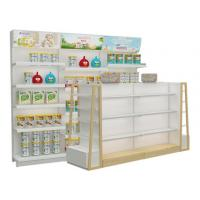 Quality Supermarket and grocery display shelves natural design baby shop display stands with led advertising for sale