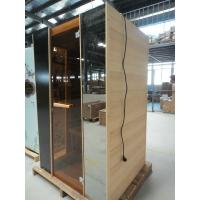 Quality Hemlock 2 Person Infrared Sauna Cabin 1820w With Tempered Glass Door for sale