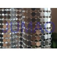 Quality Antique Coated Metal Sequin Fabric Easy Installation Architectural Drapery for sale