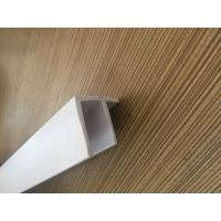 Quality Grain PVC Extrusion Profiles Glossy Surface Finish Low Maintenance for sale