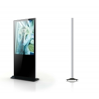 Quality 55 Inches 140mm Thick Floor Standing Touch Screen Kiosk With Live Broadcast for sale
