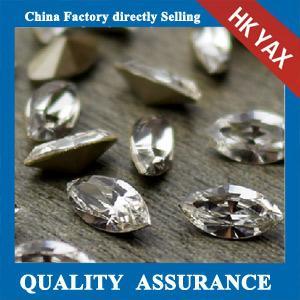 China crystal eye shape point back china supplier,shape crystal point back eye for accessory jx0820 on sale