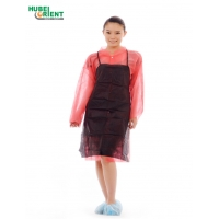 Quality Splash Prevention 40g/m2 Disposable Non Woven Apron Without Sleeves for sale