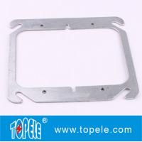TOPELE 4 FLAT BLANK SQUARE COVER FOR TWO GANG OUTLET BOXES , GALVANIZED STEEL