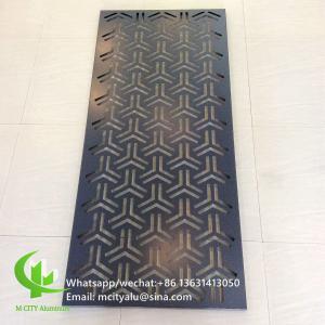 Buy cheap 600x1200mm Aluminium Sheet Wall Cladding , Perforated Aluminum Cladding Panel from wholesalers