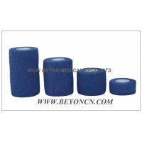 Quality Blue Elastic Knee Bandage Hand Tear For Wound Care Control Edema and Hematoma for sale