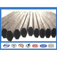 Quality Polygonal Galvanised Steel Pole for Distribution with min yield strength 345 Mpa for sale