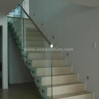 Indoor Standoff Glass Railing Stainless Steel Staircase Railing