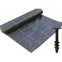 China Durable Heavy Duty Weed Control Membrane , High Strength Black Weedblock Landscape Fabric on sale