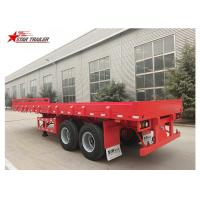 Quality 2 Axles 30ft 30Ton Flatbed Semi Trailer For Transporting Construction Machinery for sale