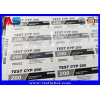 Quality Adhesive Steroid Bottle Labels 10ml Custom Printing  , Testosterone Cypionate Labels for sale