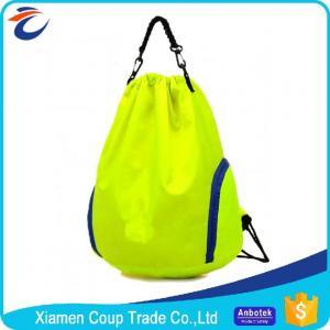 Quality Eco Friendly Washable Coloured Drawstring Bags / Gym Sack Drawstring Bag for sale