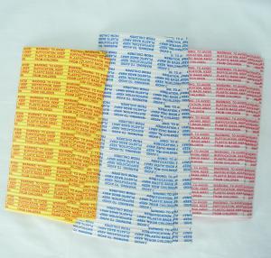 China 4mm width printed gang plastic/paper twist ties  in pre-cut and spool used in garbage bags on sale