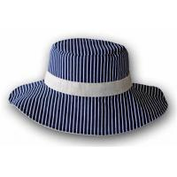 China Embroidery Double Brims Bucket Hats 100% Cotton Twill Pressing Line Woven Washed Label on sale
