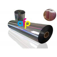 China 20 Mic PET Dry Holographic Film Roll, Clear Polyester Film With Rainbow Pattern on sale